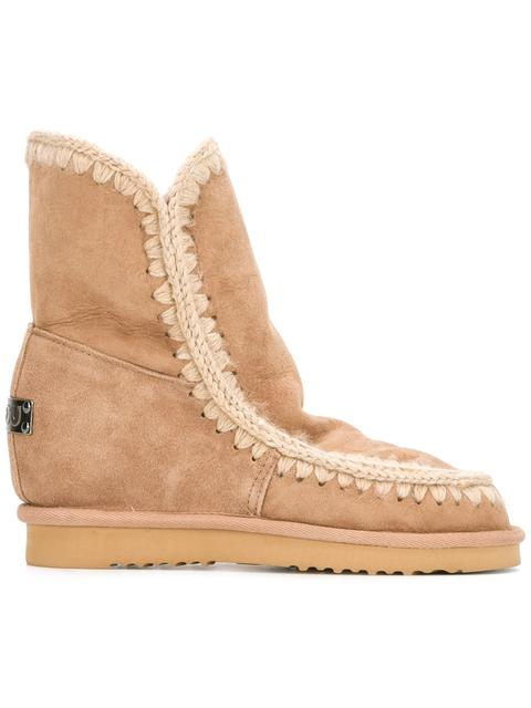 Mou 'Eskimo' Inner Wedge Boots - Brown