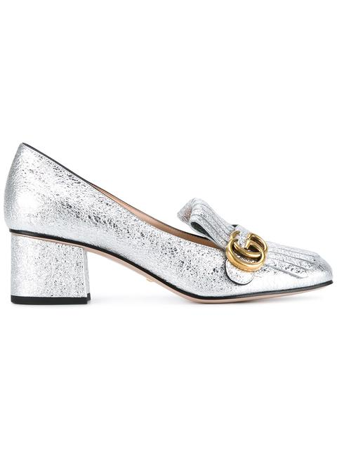 Marmont Gg Metallic Laminate Leather Pumps