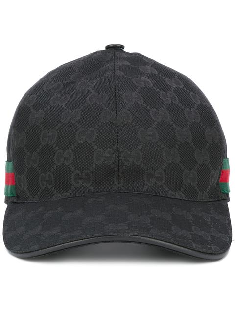 Original Gg Canvas Baseball Hat With Web, Black