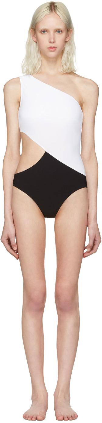 ARAKS Elmar Asymmetric Swimsuit With Cut-Out in Black