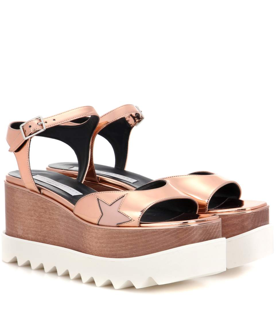 Copper Platform Star Elyse Sandals