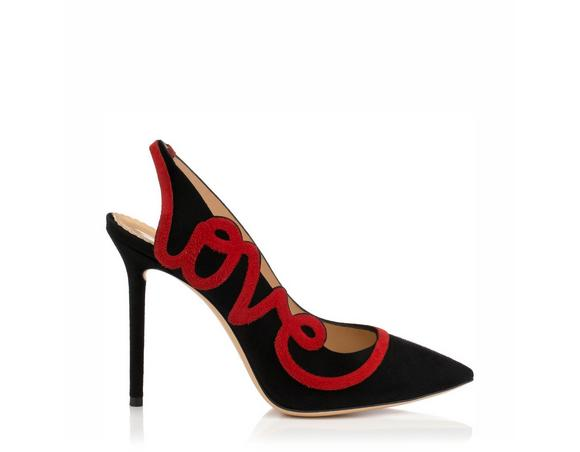 Netherlands Charlotte Olympia Black suede Dolly Pumps Low Price