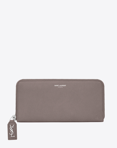 Rive Gauche Zip-Around Wallet - Light Gray