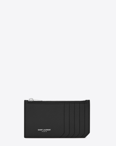 Fragments Grained-Leather Cardholder in Black