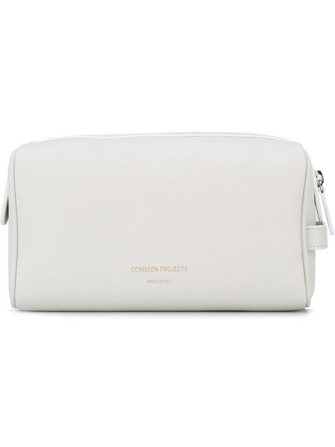 Common Projects Logo Stamp Toiletry Bag - White