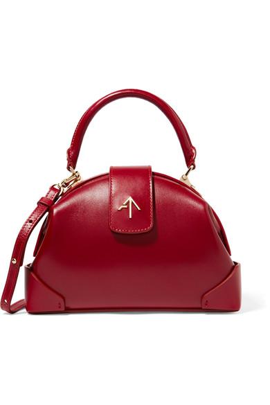 Demi Mini Leather Shoulder Bag, Red