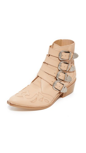 Pulla Texan In Pale Pink Leather in Neutrals