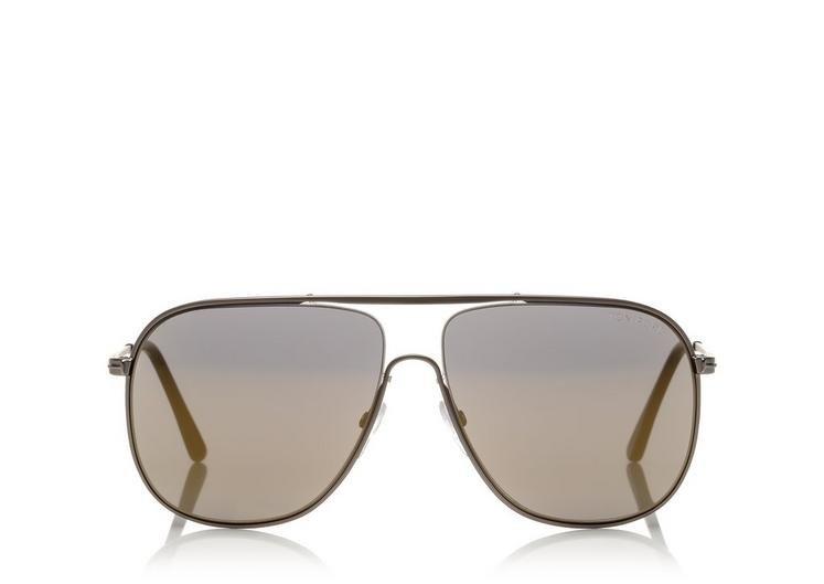 Tom Ford 60Mm Matte Aviator Sunglasses - Matte Brown/ Havana Roviex ...