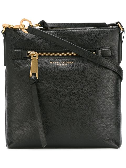 Recruit North/South Leather Crossbody Bag - Black