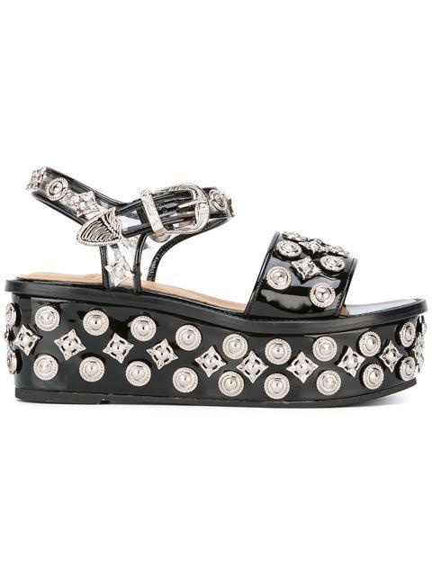 Embellished Platform Sandal (Women) in Black
