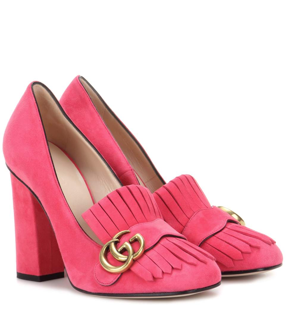 Marmont Fringed Pumps 105 in Pink