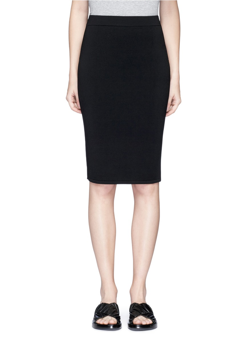 Stretch Jersey Pencil Skirt, Black from LastCall.com