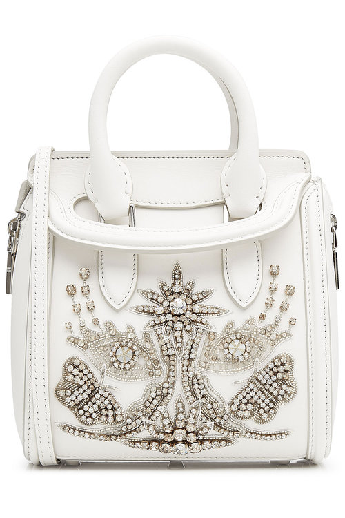 fdd00b12c64a7 ALEXANDER MCQUEEN Leather Small Heroine Satchel With Embellishment ...