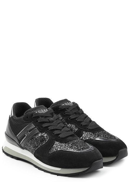 glitter platform sneakers - Black Hogan EGEu2csETp