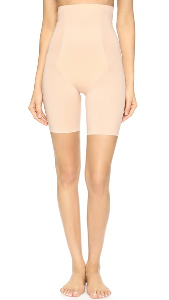 Thinstincts Firm Tummy-Control High-Waist Shaper Shorts 10006R in Soft Nude