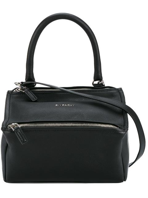 Pandora Pepe Medium Leather Messenger Bag - Black