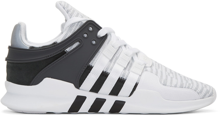 e83b286b0855 Adidas Originals Eqt Support Adv Rubber And Faux Suede-Trimmed Mesh  Sneakers In Black