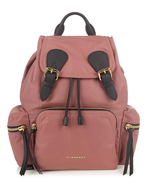 Medium The Rucksack Nylon Backpack, Pink