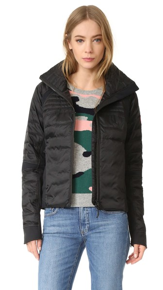 Hybridge Perren Hooded Quilted Shell Down Jacket, Black