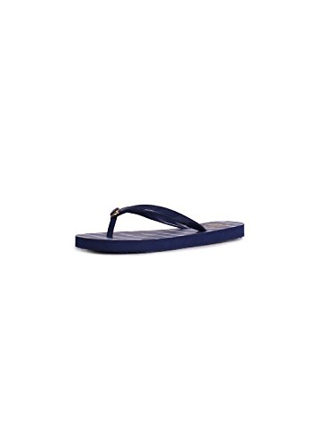 9f9de984d Tory Burch Classic Flip Flop In Navy Sea Ziggy Blue