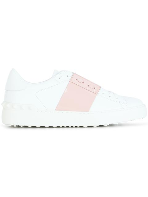 Open Leather Sneakers in Pink