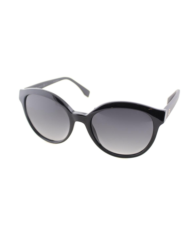 60a93434e Fendi Round Plastic Sunglasses In Black Matte Black   ModeSens