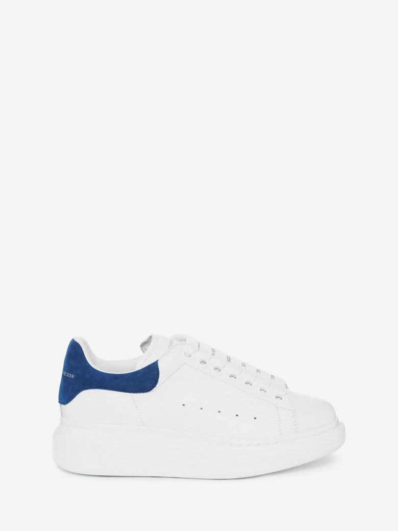 Leather Lace-Up Platform Sneakers in White