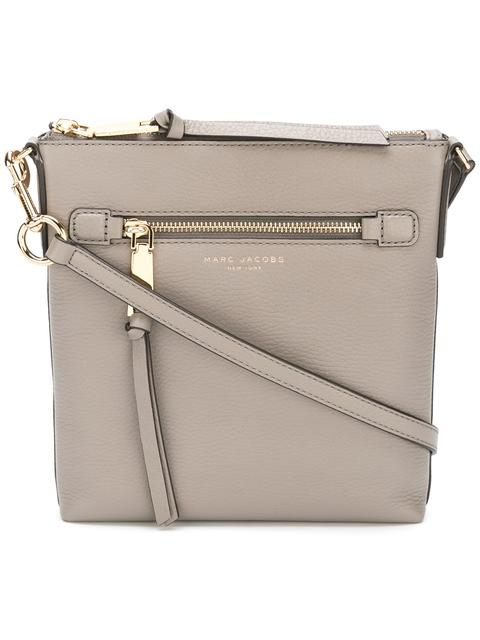 Recruit North/South Leather Crossbody Bag - Beige in Neutrals