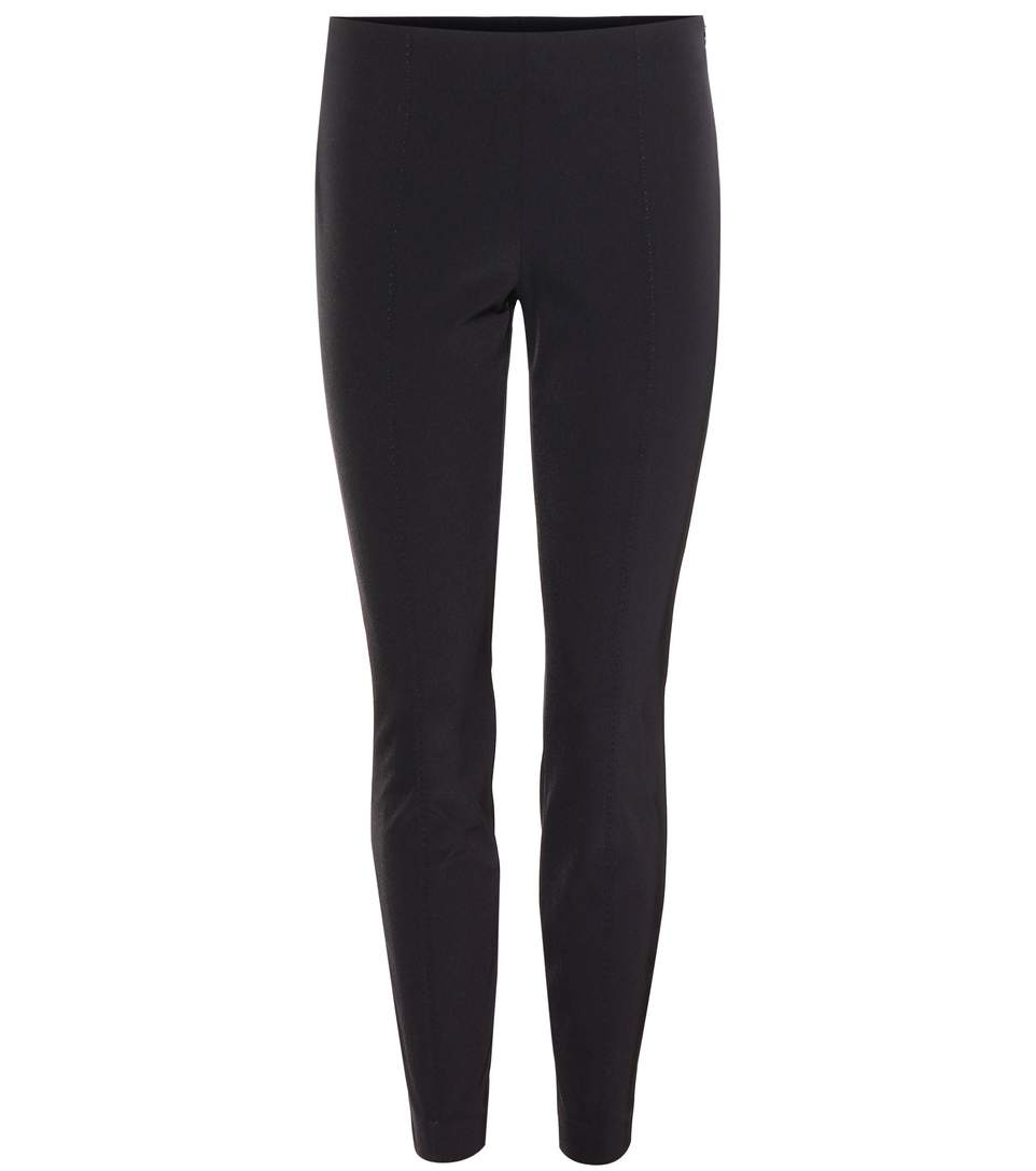 Cosso Stretch Cotton-Blend Skinny Pants in Black from SVMOSCOW