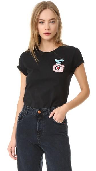 MICHAELA BUERGER Perfume Bottle T-Shirt in Black