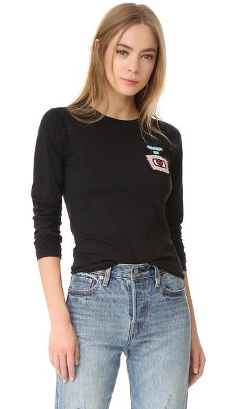 MICHAELA BUERGER Long Sleeve T-Shirt in Black