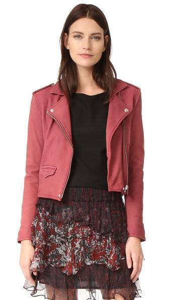 Ashville Leather Biker Jacket, Magnolia