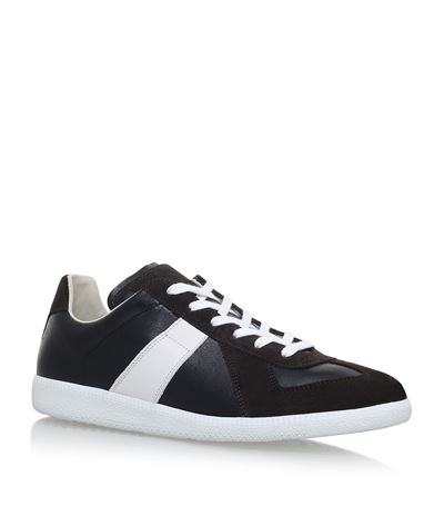 MAISON MARGIELA Black & White Replica Sneakers in Brown