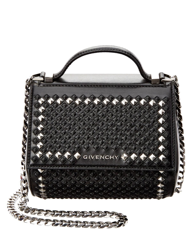 c9acbc41de40 Givenchy Pandora Box Mini Embellished Leather Shoulder Bag  In Black ...