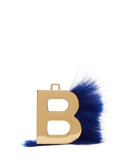 fendi abclick letter b mink charm for handbag multi gold modesens