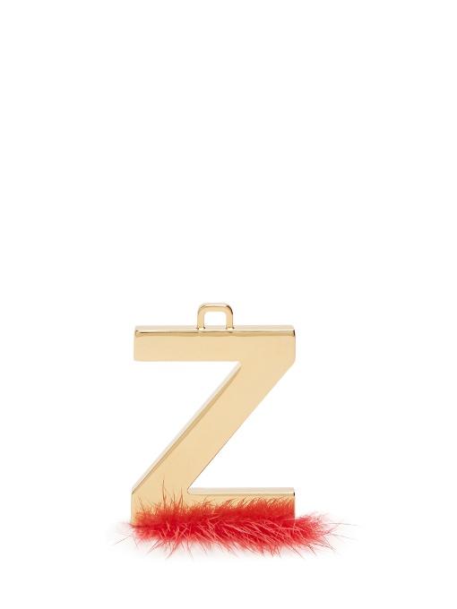 Abclick Letter Z Mink Charm For Handbag, Multi, Gold