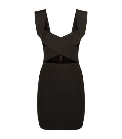 Black Criss Cross Knit Dress