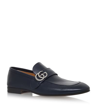 Donnie Gg Leather Loafers, Blue
