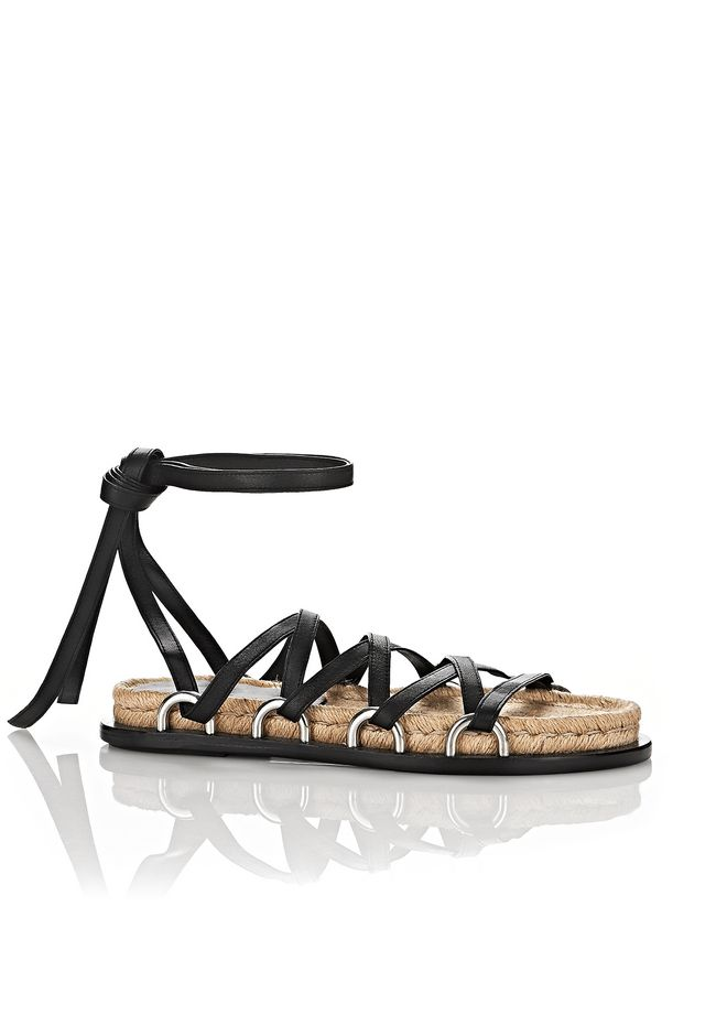 Alexander Wang Leather Lace-Up Sandals Buy Cheap Discounts Outlet Shop For Nuep3