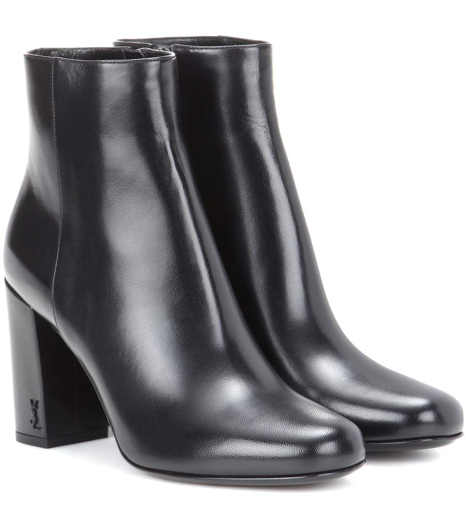 Babies 90 Leather Ankle Boots in Black