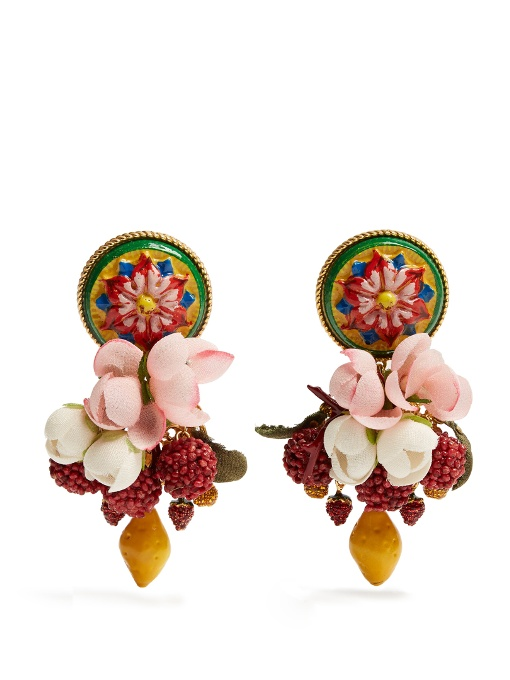 37f68d4142c75 DOLCE   GABBANA Daisy Multi-Charm Drop Earrings