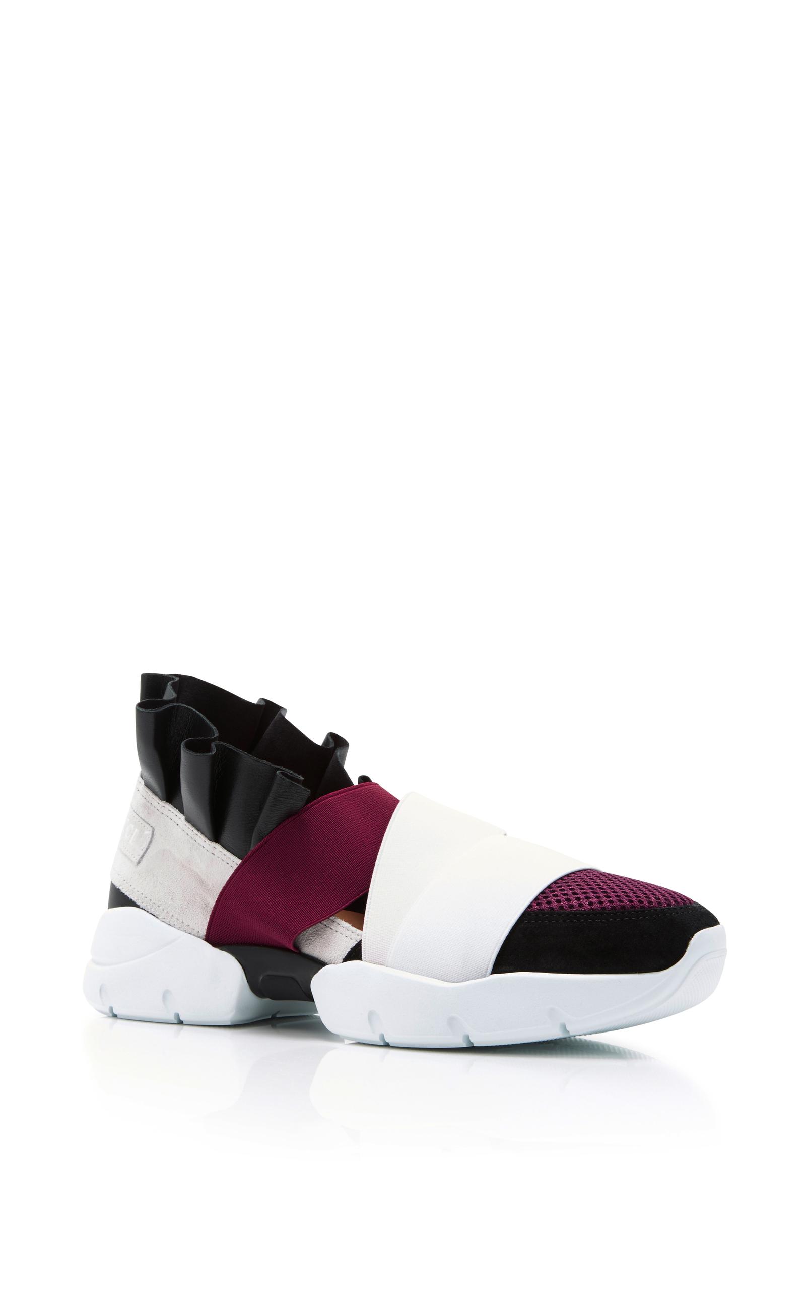 EMILIO PUCCI Black & Grey Colorblock Sneakers