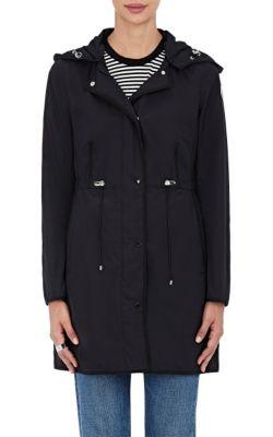 Anthemis Lightweight Raincoat, Dark Blue, Black