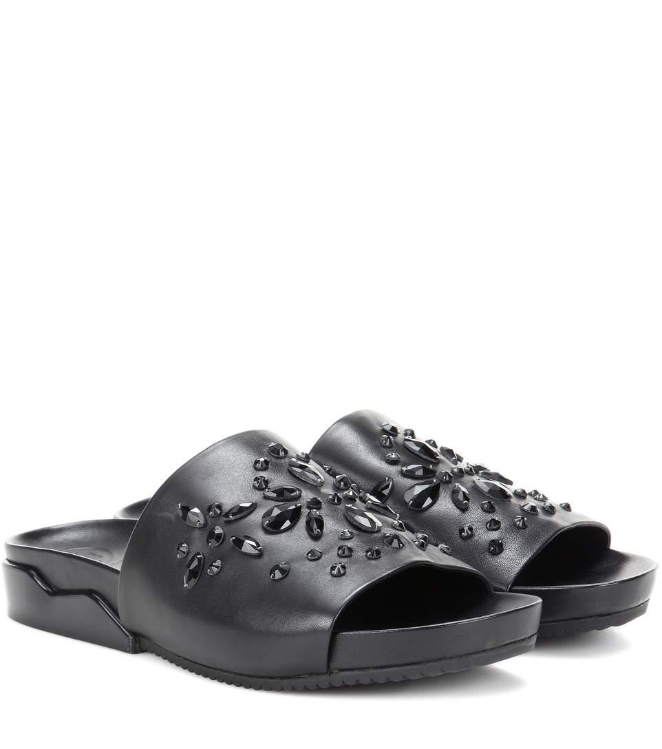 ed88a25bfbeeda TORY BURCH Brae Crystal Leather Slide Sandal