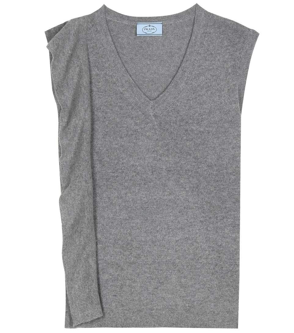 Prada Wool & Cashmere Sleeveless Top Clearance Browse Cheap Sale Pay With Paypal Sale Official Site qPG9jrL98w