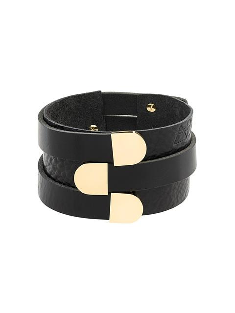 ABSIDEM Absidem 'Shirley' 3 Cuff Bracelet - Black