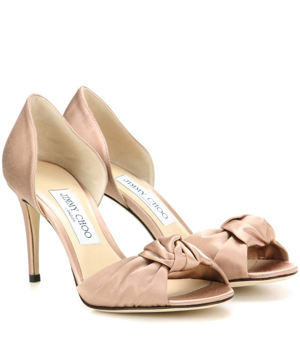 Jimmy Choo Satin Knotted Sandals best sale cheap online 6ufCW8BPW4