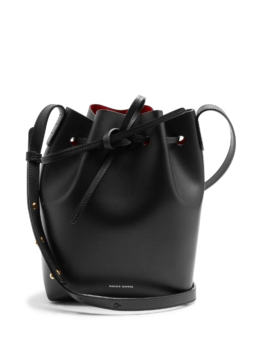 Opening Ceremony Mini Mini Vegetable Tanned Bucket Bag in Black