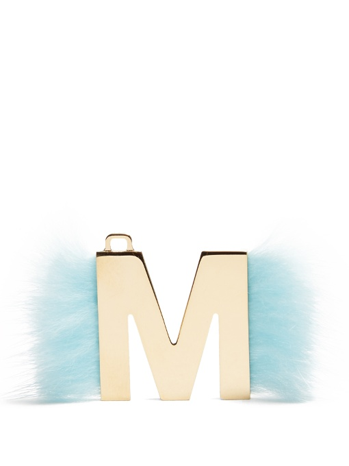 Abclick Letter 'M' Key Charm in Blue