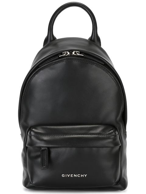433d062b0304 GIVENCHY BLACK LOGO MINI LEATHER BACKPACK